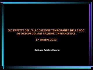 Dott.ssa Patrizia Magrin