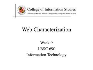 Web Characterization