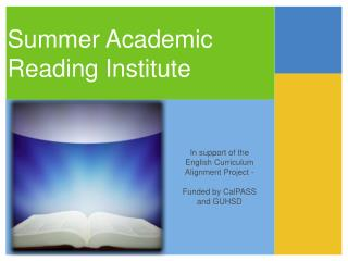 Summer Academic Reading Institute
