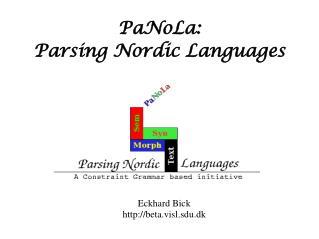 PaNoLa:  Parsing Nordic Languages