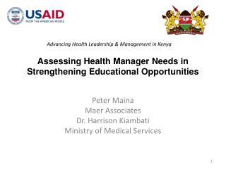 Advancing Health Leadership & Management in Kenya