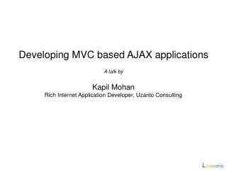 Developing MVC based AJAX applications
