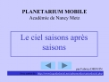 PLANETARIUM MOBILE Acad mie de Nancy Metz