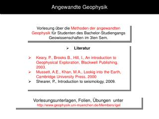 Angewandte Geophysik