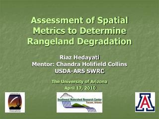 Assessment of Spatial Metrics to Determine Rangeland Degradation