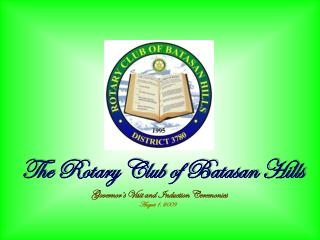 The Rotary Club of Batasan Hills