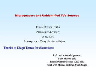 Microquasars and Unidentified TeV Sources