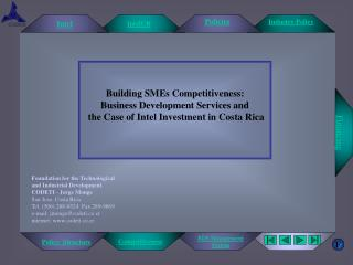 Building SMEs Competitiveness: Business Development Services and