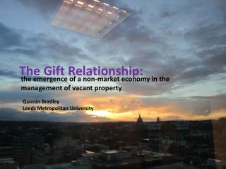 The Gift Relationship: