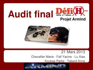 21 Mars 2013 Chevallier Marie - Fall Yacine - Lu Xiao Koubaa Radia - Tabard Anne