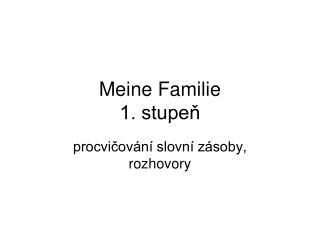 Meine Familie 1. stupeň