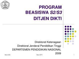 PROGRAM  BEASISWA  S2/S3  DITJEN DIKTI