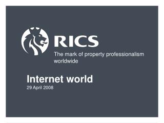 The mark of property professionalism worldwide