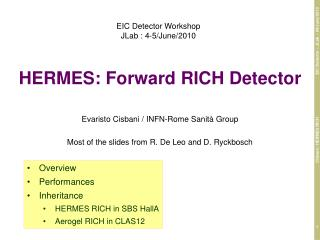 HERMES: Forward RICH Detector