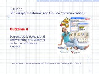 Outcome 4 Demonstrate knowledge and understanding of a variety of on-line communication methods.