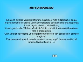 MITI DI NARCISO