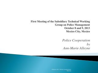 Police Cooperation  by  Ann-Marie Alleyne
