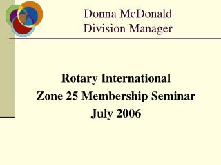 Donna McDonald Division Manager