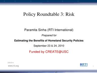 Policy Roundtable 3: Risk