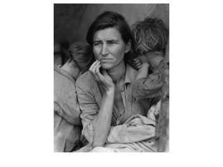 Dorothea Lange, Destitute pea pickers in California. Mother of seven children. Age 32. 1936