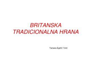 BRITANSKA TRADICIONALNA HRANA