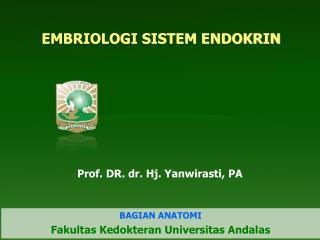EMBRIOLOGI SISTEM ENDOKRIN