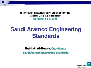 Saudi Aramco Engineering Standards