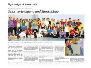 Rigi Anzeiger 11.Januar 2008