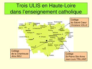 Trois ULIS en Haute-Loire  dans l'enseignement catholique