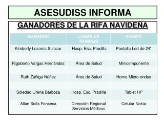 ASESUDISS INFORMA