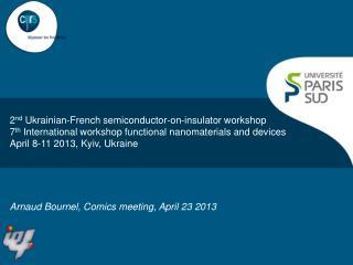 Arnaud Bournel, Comics meeting, April 23 2013