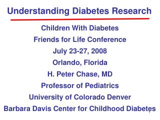 Understanding Diabetes Research