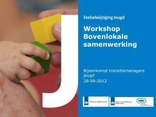 Workshop Bovenlokale samenwerking