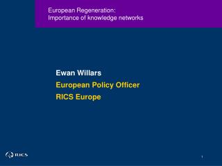 European Regeneration: Importance of knowledge networks