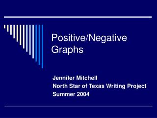Positive/Negative Graphs