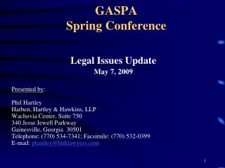GASPA Spring Conference