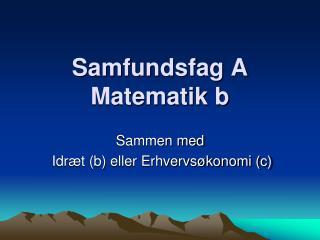 Samfundsfag A Matematik b