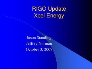 RIGO Update Xcel Energy