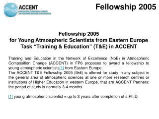 Fellowship 2005
