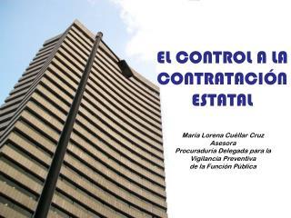 María Lorena Cuéllar Cruz Asesora Procuraduría Delegada para la  Vigilancia Preventiva