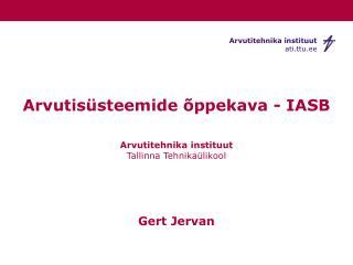 Arvutisüsteemide õppekava - IASB
