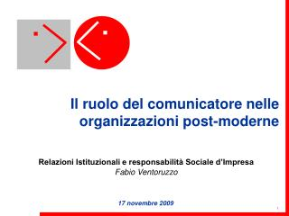 Il ruolo del comunicatore nelle organizzazioni post-moderne