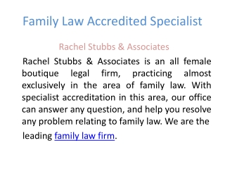 family law advice