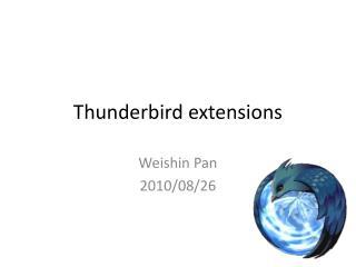 Thunderbird extensions