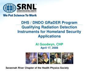 DHS / DNDO GRaDER Program