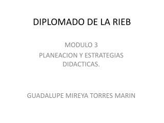 DIPLOMADO DE LA RIEB