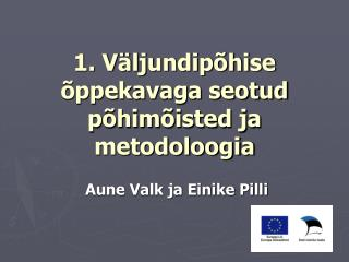 1. Väljundipõhise õppekavaga seotud põhimõisted ja metodoloogia