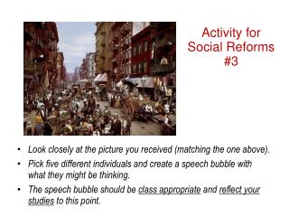 Activity for Social Reforms #3