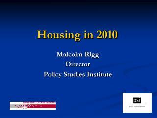 Housing in 2010