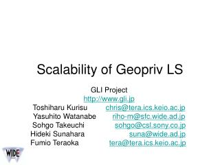 Scalability of Geopriv LS